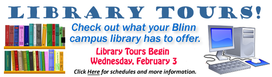 Library Tours Spring 2016