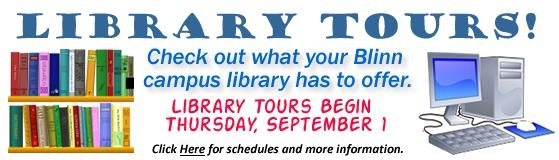 Library Tours, Fall 2016