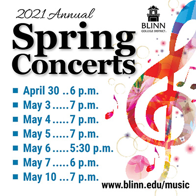 Blinn College band and choir hosting end-of-semester concert series